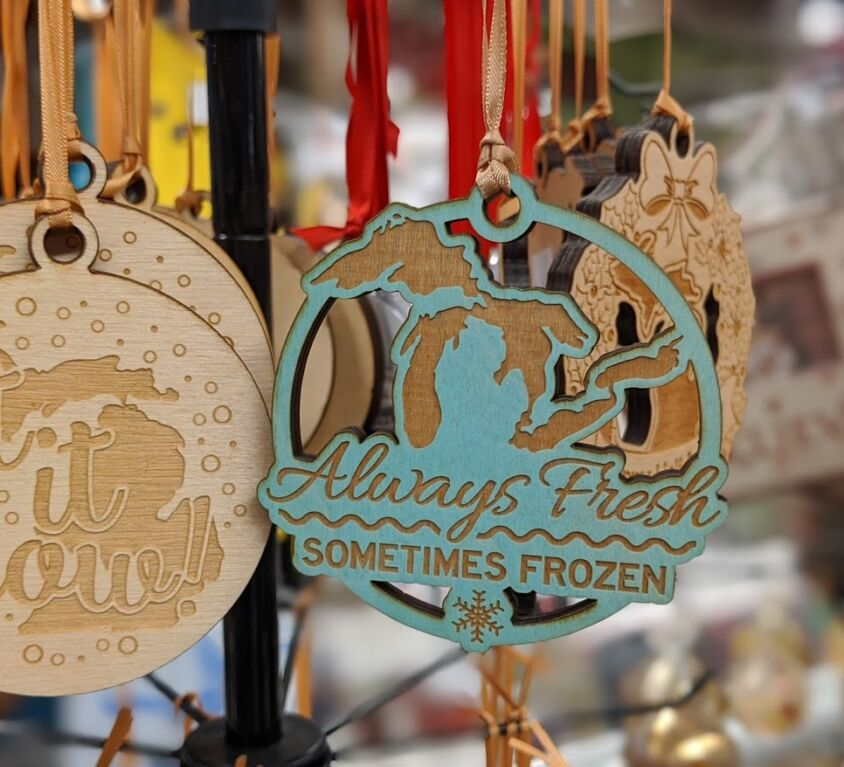 Wood Ornaments @ AGS Gift Shop
