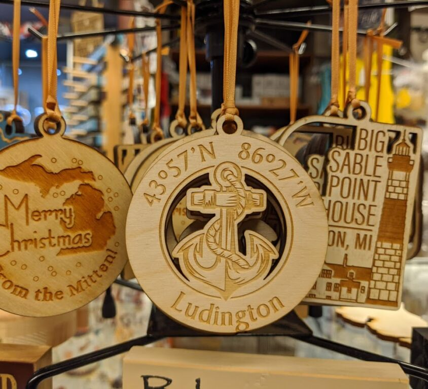 Wood Ornaments @AGS Gift Shop